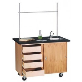 Mobile Demonstration Table with Drawers