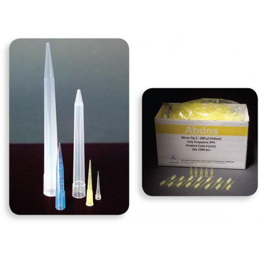 Micropipette Tips, Polypropylene, 20 µl, Natural, Pack/1000