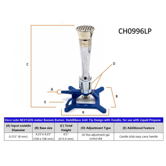 Yantra Lab Bunsen Burner Flame Spreader with Flame Stabilizer Natural Gas Propane Lab Heating